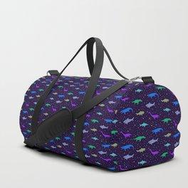 Underwater Dinosaurs (Dark Blue) Duffle Bag