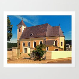 The village church of Sankt Stefan I | architectural photography Art Print