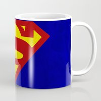 superman Mugs featuring Superman by Some_Designs