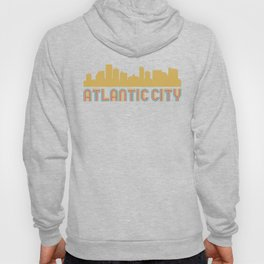 Vintage Style Atlantic City New Jersey Skyline Hoody