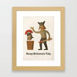 Keep Britannia Tidy Framed Art Print