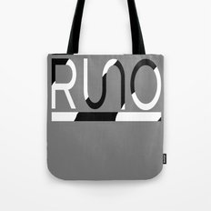 Rue Nothing RUNO Logo Zebra Tote Bag
