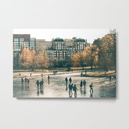 Skaters on the Boston Public Garden Metal Print