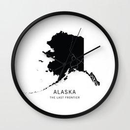 Alaska State Road Map Wall Clock