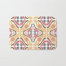 Landscape Australis (white) - An Abstract Design Bath Mat
