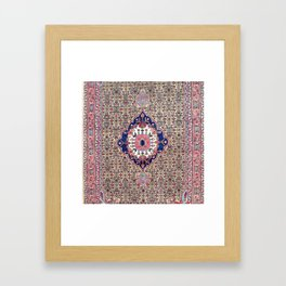 Bijar Kurdish Northwest Persian Carpet Print Framed Art Print