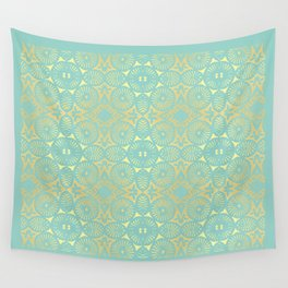 eau de nil flowerpower series Wall Tapestry