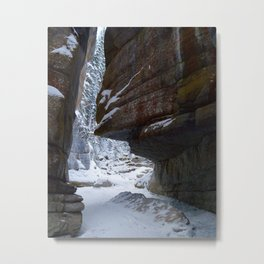Maligne Canyon Icewalk Metal Print