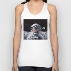 Spaceman oh spaceman, come rescue me (teal) Unisex Tank Top