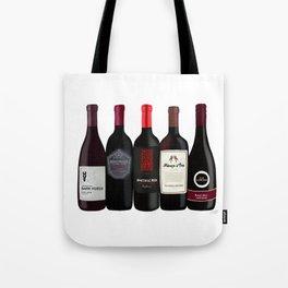 Red Wine Bottles Tote Bag