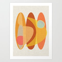 Surf & Boomerang Art Print