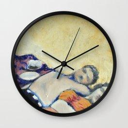 Meik Beach Date  Wall Clock