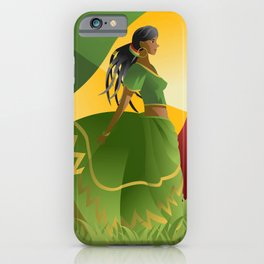 african rastafarian girl iPhone Case