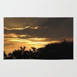 Golden sky Rug