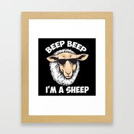 Beep Beep I'm A Sheep Framed Art Print