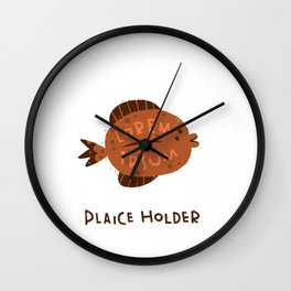 Plaice Holder Wall Clock