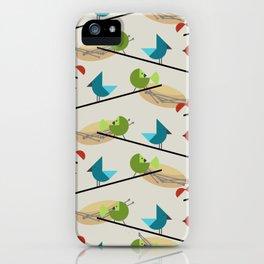 Mid Century Modern Birds iPhone Case