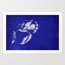 Cuttlefish Stencil Art Print