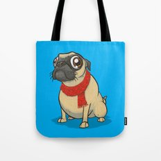 Pug with a scarf Tote Bag