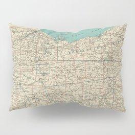 Vintage Map of Ohio (1887) Pillow Sham