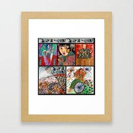 Hadestown Collage Framed Art Print