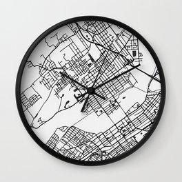 Wilkes-Barre Pennsylvania Map Wall Clock