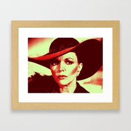 Alexis Pop Two Tone Framed Art Print