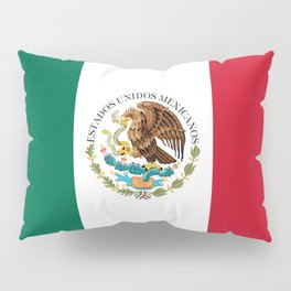 Flag of Mexico - alt version with seal insert Pillow Sham