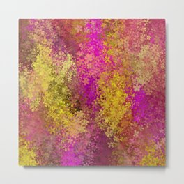 flower pattern abstract background in pink and yellow Metal Print