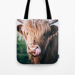 scottish highlander Tote Bag