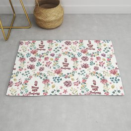 Do All Things With Kindness - A floral print Rug