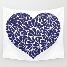 Mexican Talavera Heart by Akbaly Wall Tapestry