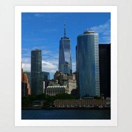 Manhattan View From Hudson River Art Print