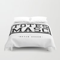 totes Duvet Covers featuring Totes Masc - Classic by lessdanthree