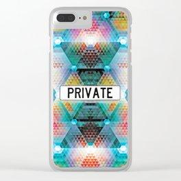 _PRIVATE Clear iPhone Case