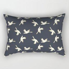 in flight-blue Rectangular Pillow