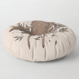 Floral Elk Floor Pillow