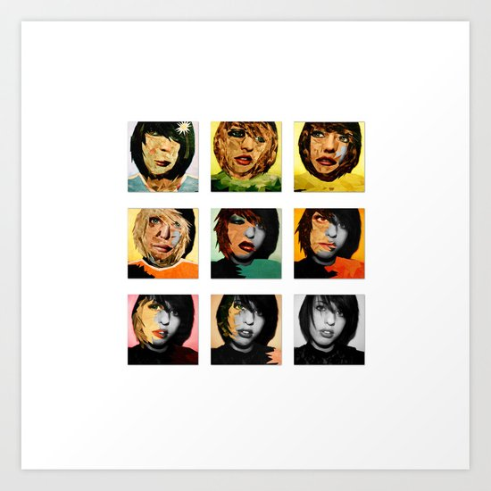 The Many Faces.  Art Print