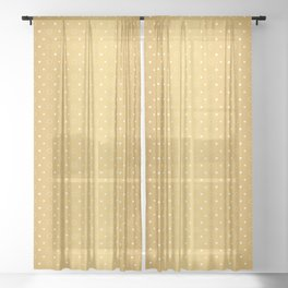 Art Deco Pattern 1 [RADIANT GOLD] Sheer Curtain
