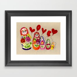 From Russia with Love Russian Dolls Framed Art Print