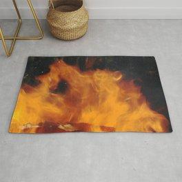 flame dance Rug