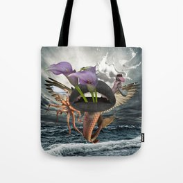 Behind and Beyond Tote Bag