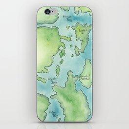 Go Home Lake - Nature Map iPhone Skin