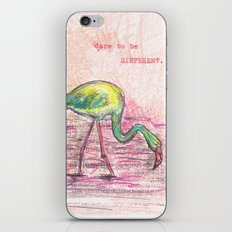 Dare to be different, Flamingo iPhone & iPod Skin