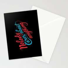 Nobody Cares About Anything Stationery Cards