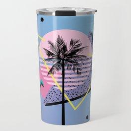 Memphis pattern 46 - 80s / 90s Retro / Palm Tree Travel Mug