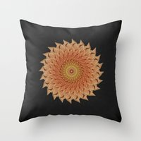 dahlia Throw Pillows featuring Dahlia by Deborah Janke