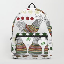 Christmas Chicken Knit Backpack