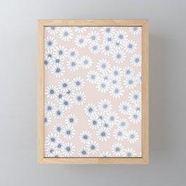 Marguerites on Blush Framed Mini Art Print