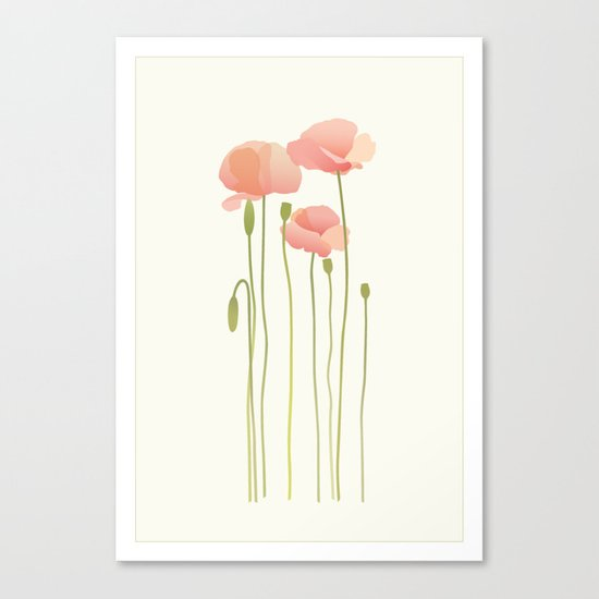 Blushing Poppies III Canvas Print